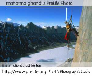 mahatma ghandi's PreLife Photo
