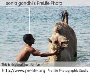 sonia gandhi's PreLife Photo