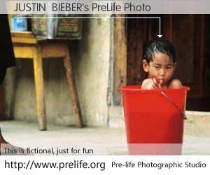 JUSTIN  BIEBER's PreLife Photo